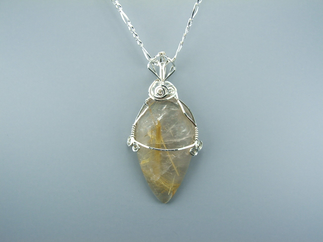 Rutile In Quartz Wire Wrap 2008